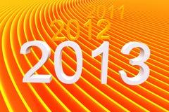 de kleuren abstracte streep van 2013 Royalty-vrije Stock Afbeelding