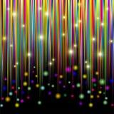 De kleuren en schitteren het Abstracte Patroon van Strepen Stock Afbeeldingen