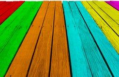 De kleuren houten textuur, natuurlijke patronenachtergrond Royalty-vrije Stock Fotografie