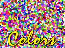 De kleuren maken uw dag stock illustratie