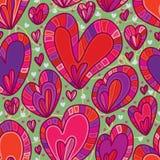 De kleuren naadloos patroon van het liefdeontwerp stock illustratie