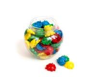 De kleuren plastic mozaïek van kinderen royalty-vrije stock afbeelding