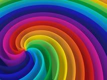 De kleuren spiraalvormige structuur van de regenboog vector illustratie