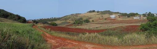 De Kleuren van de aardaarde in een Panorama worden gemengd dat stock afbeeldingen