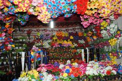 De kleuren van de bloemwinkel Stock Foto's