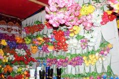 De kleuren van de bloemwinkel Stock Afbeeldingen