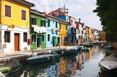 De kleuren van Burano Stock Afbeelding