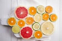 De kleuren van citrusvruchten Royalty-vrije Stock Foto