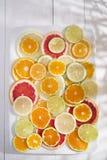 De kleuren van citrusvruchten Royalty-vrije Stock Afbeelding