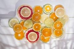 De kleuren van citrusvruchten Royalty-vrije Stock Foto's