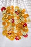 De kleuren van citrusvruchten Stock Fotografie