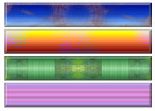 De kleuren van de banner Royalty-vrije Stock Afbeeldingen