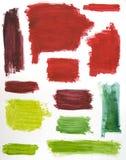 De Kleuren van de Borstel van de verf Royalty-vrije Stock Foto's