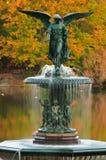 De kleuren van de daling bij Fontein Bethesda in Central Park. Royalty-vrije Stock Afbeeldingen