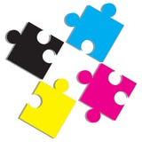 De kleuren van de druk Stock Foto