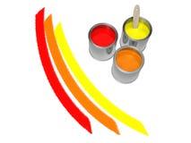 De kleuren van de herfst. 3d illustratie Stock Afbeeldingen