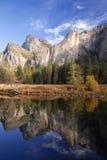De kleuren van de herfst in Yosemite Royalty-vrije Stock Foto's