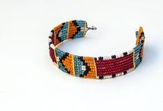 De kleuren van de Masaiarmband Stock Foto's