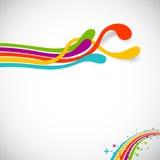 De kleuren van de regenboog vector illustratie