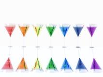 De kleuren van de regenboog Stock Foto