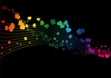 De kleuren van de regenboog in een golf - Vectorbeeld Stock Afbeelding