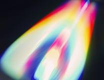 De kleuren van de regenboog van een CD_ROM Stock Afbeelding