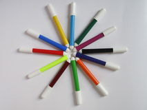 De kleuren van de schetspen Royalty-vrije Stock Foto