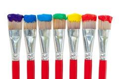 De Kleuren van de Verf van de regenboog Stock Fotografie