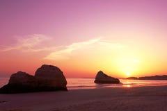 De kleuren van de zonsondergang Stock Fotografie