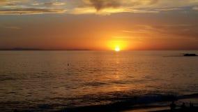 De kleuren van de zonsondergang Royalty-vrije Stock Afbeeldingen