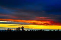 De kleuren van de zonsondergang Stock Foto