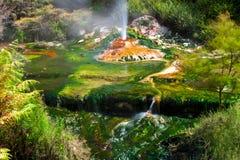 De Kleuren van Geotermal stock afbeeldingen