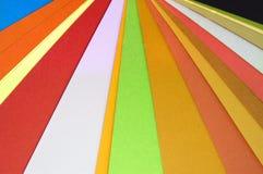 De kleuren van het document royalty-vrije stock foto's