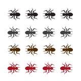 De Kleuren van het insectensilhouet stock illustratie