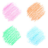 De kleuren van het kleurpotlood Stock Foto's