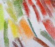 De Kleuren van het Krijt van de pastelkleur Stock Afbeeldingen