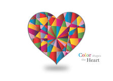 De kleuren van het liefdehart stock afbeeldingen