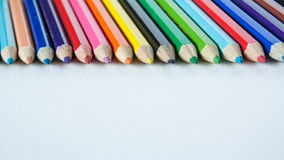 De kleuren van het potlood Stock Afbeeldingen