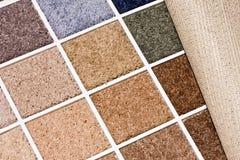De kleuren van het tapijt Stock Afbeeldingen