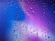 De kleuren van het van achtergrond waterdalingen de ruimteregenboog regenglas Royalty-vrije Stock Fotografie