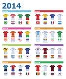 De kleuren van het voetbalkampioenschap Stock Afbeeldingen