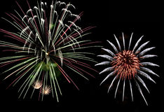 De Kleuren van het vuurwerk stock foto