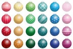 De Kleuren van kerstboomballen Royalty-vrije Stock Afbeeldingen