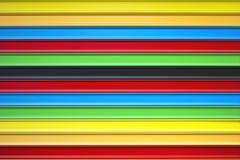 De kleuren van metaalzonneblinden Stock Fotografie