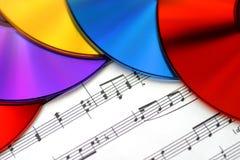 De kleuren van Muziek Stock Foto's