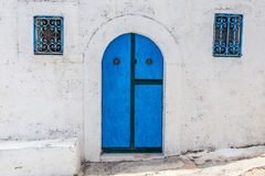 De kleuren van Peschici (Puglia-Italië) Stock Afbeeldingen