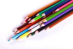 De Kleuren van potloden Royalty-vrije Stock Fotografie