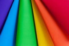De kleuren van de regenboog, het symbool van LGBT Stock Foto