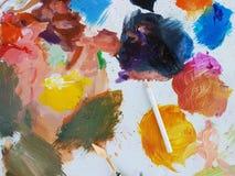 De kleuren van de verf stock afbeeldingen