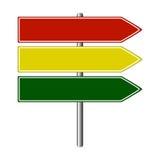 De kleuren van verkeersteken Royalty-vrije Stock Fotografie